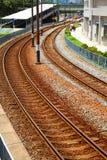 Железнодорожные пути стоковая фотография