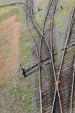 Железнодорожные рельсы Стоковые Фотографии RF