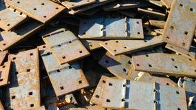 Железнодорожные стальные пластины Стоковое Фото
