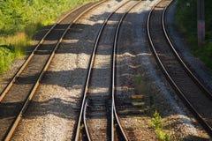 железнодорожные следы стоковые изображения rf