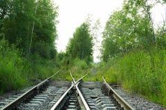 железнодорожные следы Стоковые Изображения