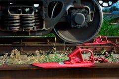 Железнодорожный блок стопа Стоковое Изображение RF