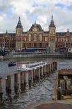 Железнодорожный вокзал Амстердама Centraal Стоковые Изображения