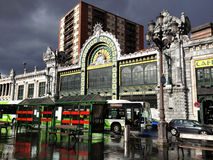 Железнодорожный вокзал, Бильбао, Испания Стоковое фото RF