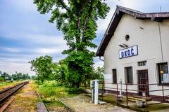 Железнодорожный вокзал в деревне Стоковая Фотография RF