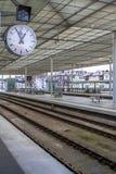 Железнодорожный вокзал в Antwerpen Бельгии стоковое фото rf
