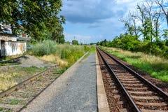 Железнодорожный вокзал деревни Стоковое фото RF