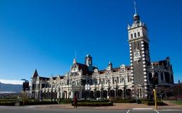 Железнодорожный вокзал на Данидине, Новой Зеландии Стоковая Фотография