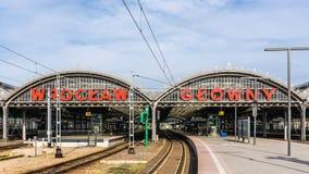 Железнодорожный вокзал основы Wroclaw Стоковое Фото