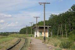 Железнодорожный вокзал пассажира пригородный Стоковое фото RF