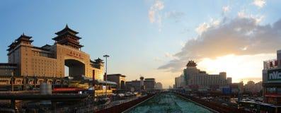 Железнодорожный вокзал Пекина, западный железнодорожный вокзал Стоковые Фото