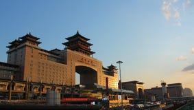 Железнодорожный вокзал Пекина, западный железнодорожный вокзал Стоковые Изображения