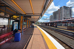Железнодорожный вокзал улицы Roma Стоковые Изображения RF