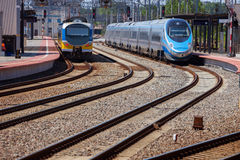 железнодорожный вокзал стоковая фотография