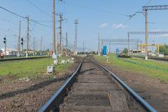 железнодорожный вокзал Стоковые Фотографии RF