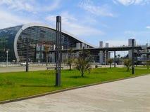 Железнодорожный вокзал Adler, курорт Сочи, Россия Стоковая Фотография RF