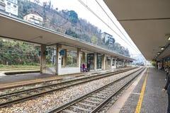 Железнодорожный вокзал Como San Giovanni, Ломбардия, Италия Стоковое Изображение