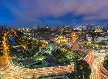 Железнодорожный вокзал Hualanpong Бангкока Стоковая Фотография RF