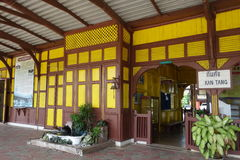 Железнодорожный вокзал Kantang, провинция Trang, Таиланд Стоковое Фото