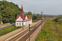 Железнодорожный вокзал Karpaty, Украина Стоковое Фото