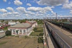Железнодорожный вокзал Kolodeznaya в зоне Воронежа, России Стоковая Фотография