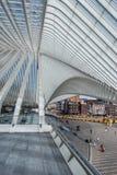 Железнодорожный вокзал Liège-Guillemins, Бельгия Стоковые Фотографии RF