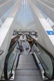 Железнодорожный вокзал Liège-Guillemins, Бельгия Стоковая Фотография