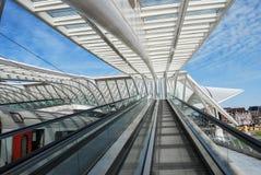Железнодорожный вокзал Liège-Guillemins, Бельгия Стоковое Изображение
