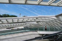 Железнодорожный вокзал Liège-Guillemins, Бельгия Стоковые Изображения RF