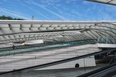 Железнодорожный вокзал Liège-Guillemins, Бельгия Стоковая Фотография RF