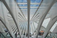 Железнодорожный вокзал Liège-Guillemins, Бельгия Стоковое Фото