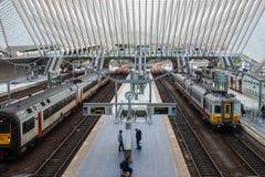 Железнодорожный вокзал liege-Guillemins Стоковое Изображение