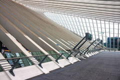 Железнодорожный вокзал liege-Guillemins Стоковые Фотографии RF