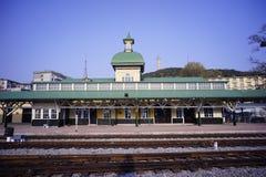 Железнодорожный вокзал Lushun стоковое фото rf