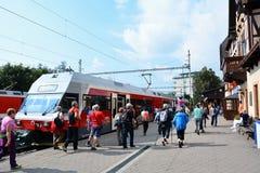 Железнодорожный вокзал Stary Smokovec стоковая фотография