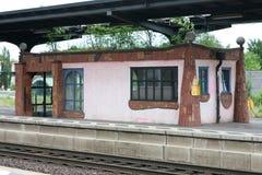 Железнодорожный вокзал Uelzen Hundertwasser Стоковые Фото