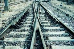 железнодорожный год сбора винограда Стоковые Фото