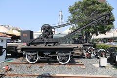 Железнодорожный кран в музее Koc Стоковое Изображение