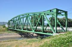 Железнодорожный мост над рекой Стоковое Изображение