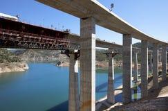 Железнодорожный мост под конструкцией Стоковое Изображение