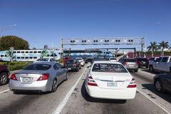 Железнодорожный переезд в Голливуде, Флориде Стоковое Изображение RF