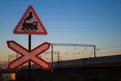 Железнодорожный переезд - изображение запаса Стоковое фото RF