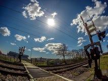 Железнодорожный переезд стоковая фотография rf
