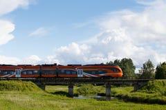 Железнодорожный поезд Стоковое фото RF