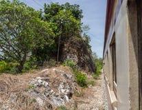 Железнодорожный пропуск в едва путь Стоковое Изображение