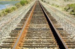 Железнодорожный путь в Северной Америке Стоковые Фотографии RF