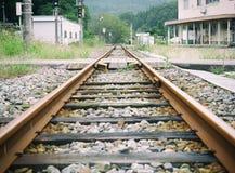 Железнодорожный путь в Японии Стоковая Фотография