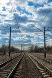 Железнодорожный путь Стоковая Фотография RF