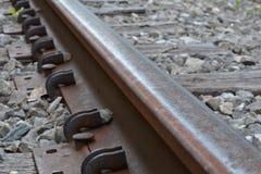 Железнодорожный рельс Стоковые Изображения