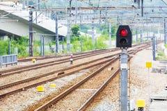 Железнодорожный свет сигнала стоковые изображения rf